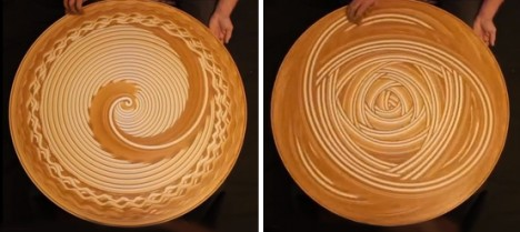 spinning hypnotic circle fingerpainting
