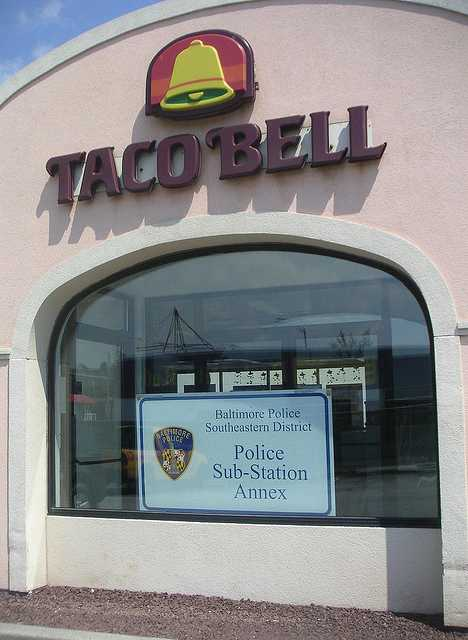 Baltimore police taco bell