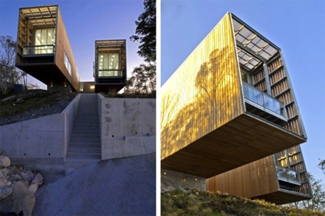 Cantilevered Two Hull House 2
