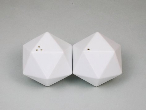 Geometric Home Icosa Salt and Pepper