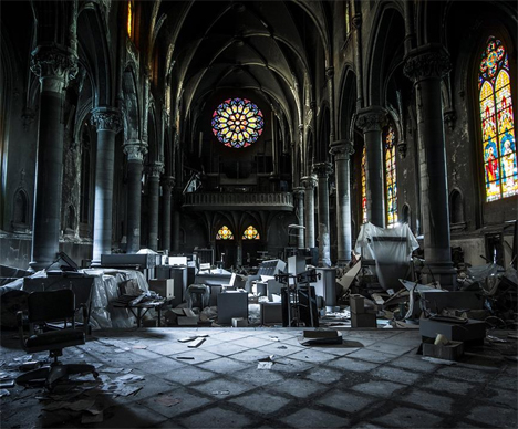 empty spaces photo book documents eerie urban ruins 360photography