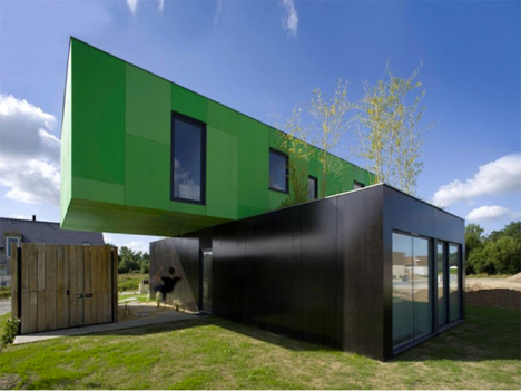 Metallic Houses Shipping Container
