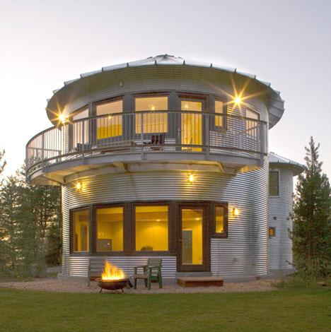 Metallic Houses Silo