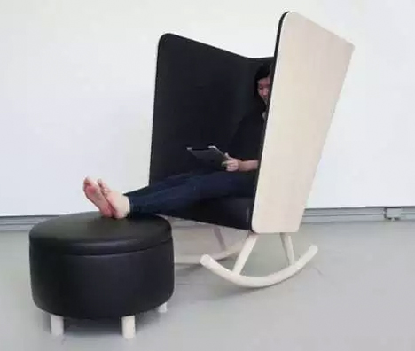 Antisocial Seating 14 Distraction Cutting Privacy Chairs