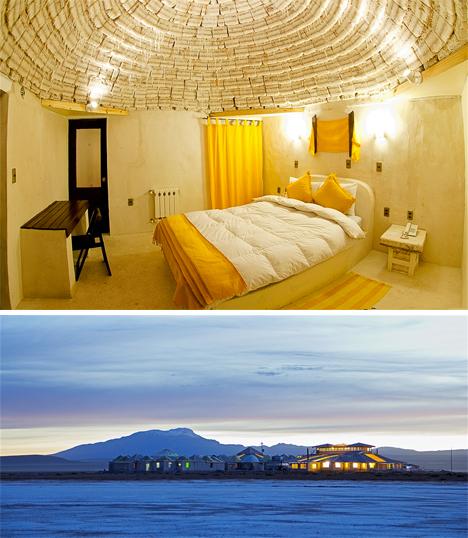 Weirdest Hotels Salt Bolivia