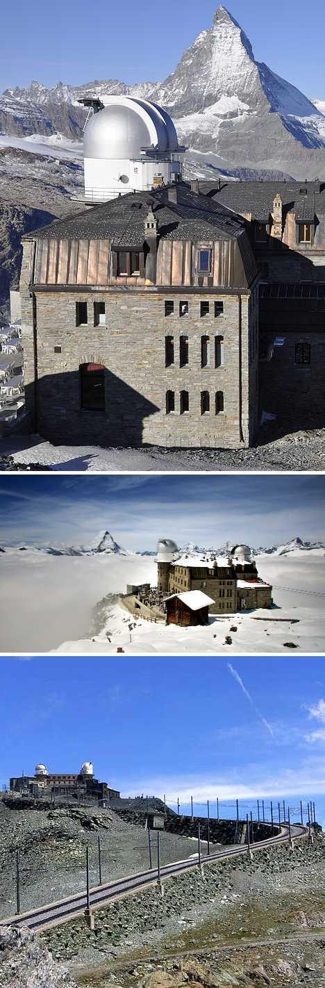 abandoned Gornergrat Infrared Observatory Zermatt