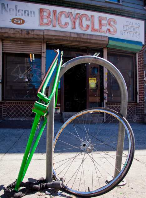 abandoned closed Nelson's Bicycle Shop Brooklyn NY