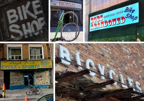 abandoned bicycle shops