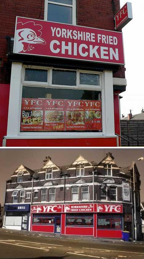 fake KFC Yorkshire Fried Chicken YFC