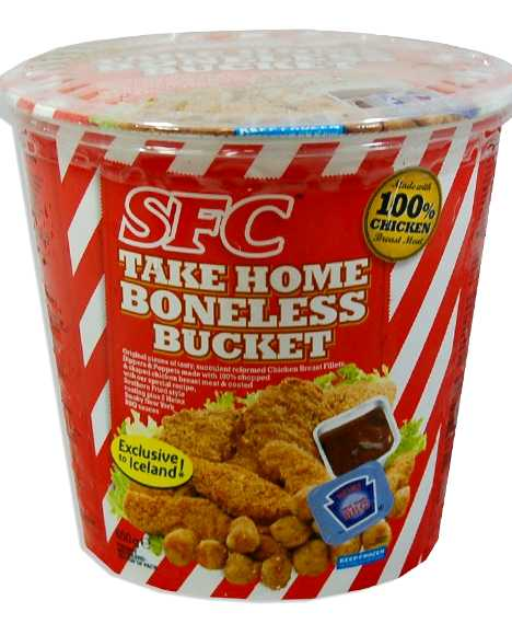 SFC Iceland fried chicken bucket fake KFC