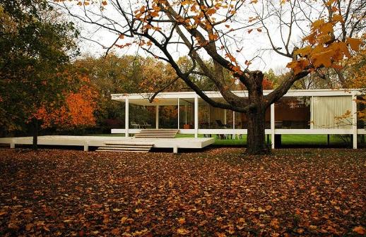 farnsworth home fall trees
