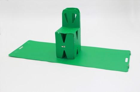 flat pack green chair