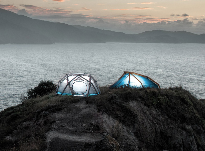 geodesic inflatable tent