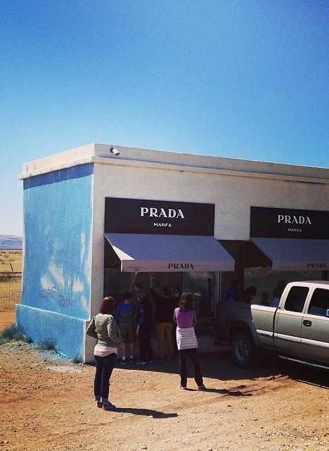 abandoned Prada Marfa jewelry store