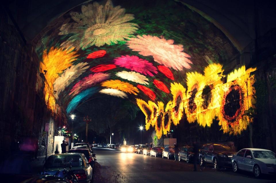 Interactive Wonderland: Light Projection Art Animates Sydney