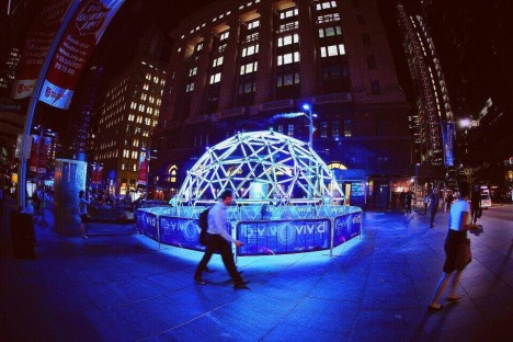 light art geodesic dome
