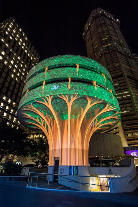 light art tree animation