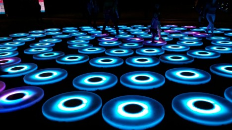 light art walking platforms
