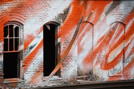 mural art wall close up