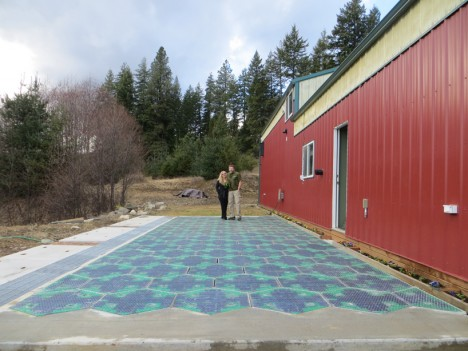 solar road test panels