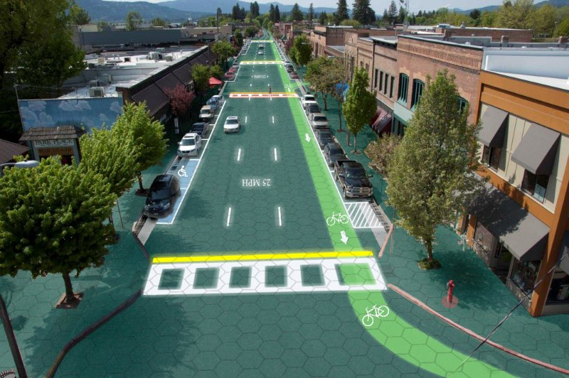 solar roadway graphic design