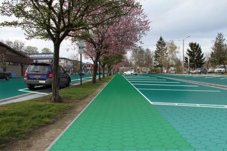 solar roadway parking sidewalk
