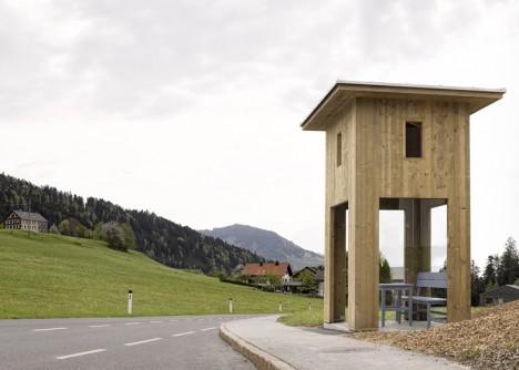 tall top bus stop
