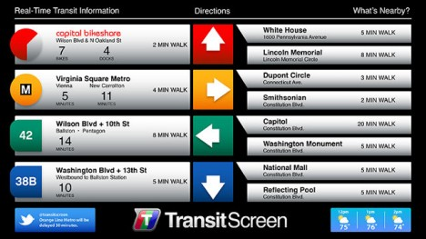 transit screen directions wayfinding