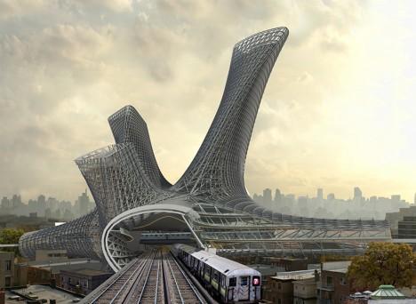 urban transit metal hub