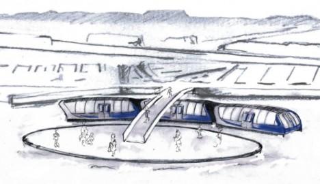 water bus sketch idea