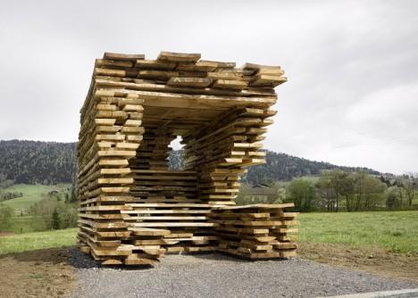 wood remix bus seat