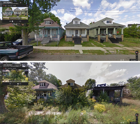 The Street View Images Are Often Astonishing In The Rapid Transition In A  Span Of Just A Few Short Years. A Stretch Of Houses May Have Cars Parked In  The ...
