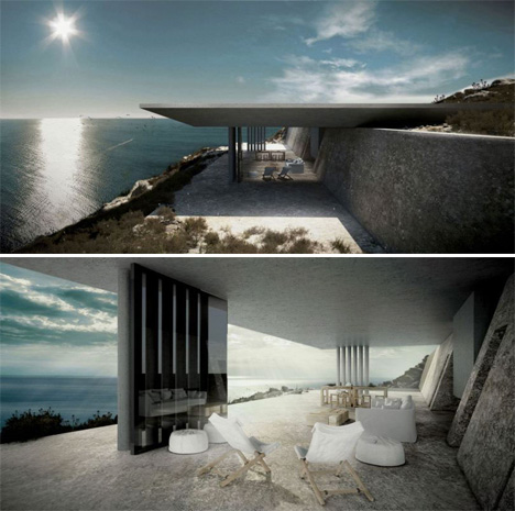 hover houses 12 cliff clinging homes with a view urbanist. Black Bedroom Furniture Sets. Home Design Ideas