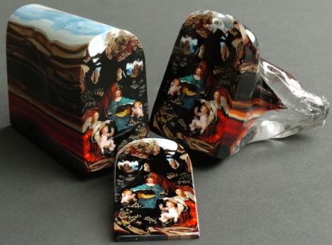Loren Stump Sliced Glass Art 1