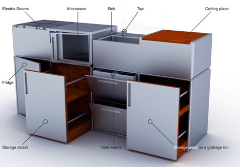 Modular Kitchens Kit Cub