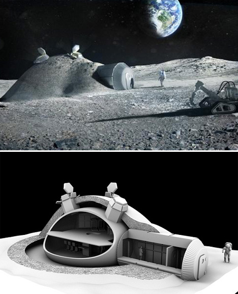 Space Architecture Foster moon