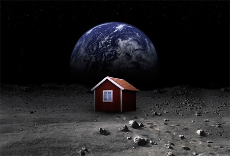 Space Architecture Self Assembling Moon