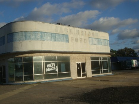 abandoned Ford dealership Darien Georgia
