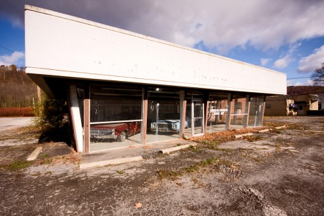 abandoned Chrysler-Plymouth dealership East Liverpool Ohio