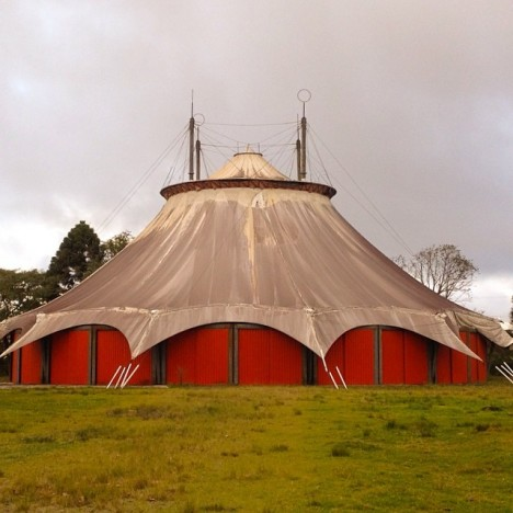 abandoned red tent circus Brazil