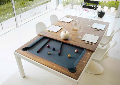 Beautiful Elegant Fusion Pool Table Converts To Dining Table