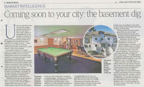 london basement dig article