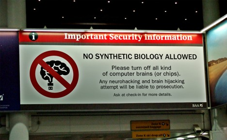 no synthetic biology allowed