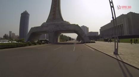 north korea weird overpass