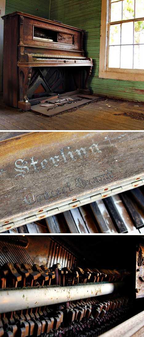abandoned piano Youngs Chapel Georgia