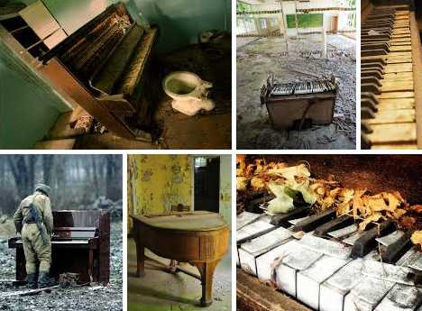 abandoned pianos