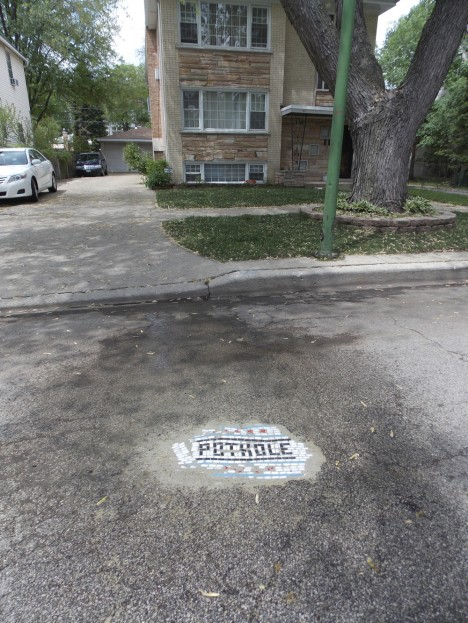 pothole fixed in context