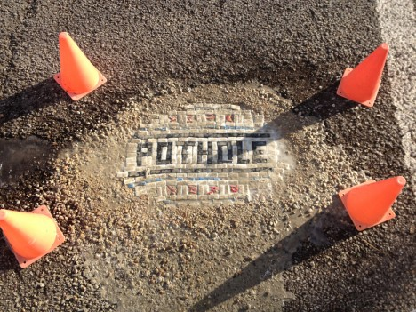 pothole mosaic tile art