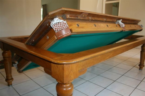 Flip For Fun Clever Pool Tables That Convert Transform Urbanist - Pool table converts to dining