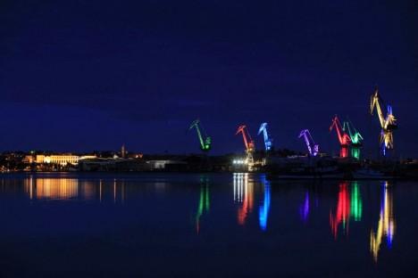 shipyard crane art
